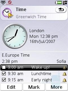 World clock - Sony Ericsson P1 Review