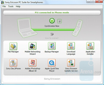 PC Synchrornisation - Sony Ericsson P1 Review