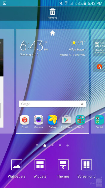 User interface of the Samsung Galaxy Note5 - Samsung Galaxy Note5 vs Google Nexus 6