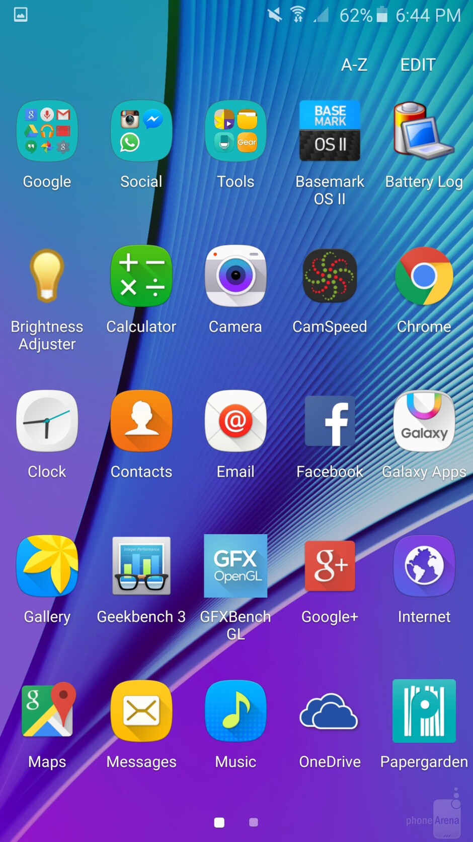 The user interface of the Samsung Galaxy Note5 - Samsung Galaxy Note5 vs Samsung Galaxy S6