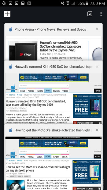Web browsing with Samsung Galaxy Note 5 - Samsung Galaxy S7 edge vs Samsung Galaxy Note 5
