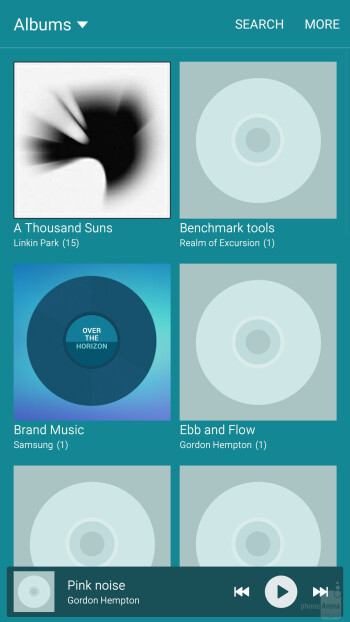 The TouchWiz music player on both Samsung Galaxy Note5 and Samsung Galaxy S6 edge+ - Samsung Galaxy Note5 vs Samsung Galaxy S6 edge+
