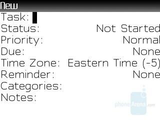 Tasks - RIM BlackBerry 8830 Review