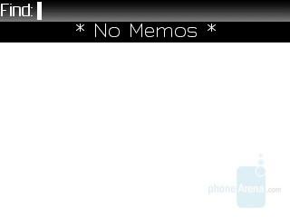 Memo pad - RIM BlackBerry 8830 Review