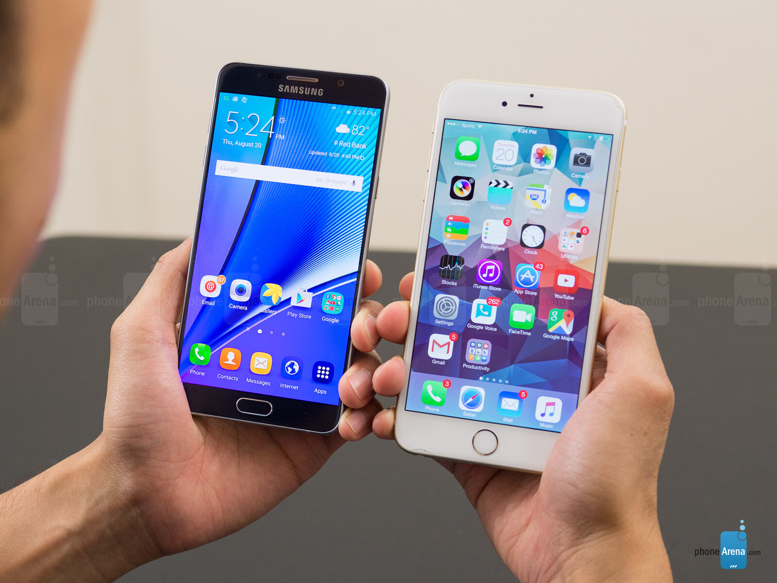 galaxy note 5 vs iphone 6