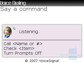 Voice commands - RIM BlackBerry 8830 Review