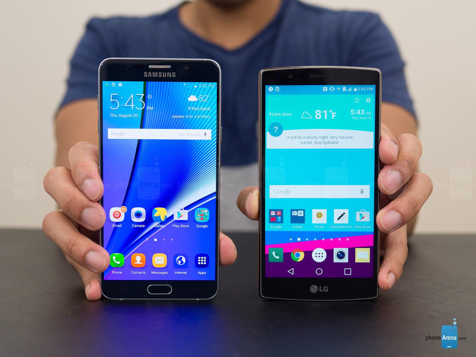 Lg G4 Vs Galaxy S7 Edge: Samsung Galaxy Note5 Vs LG G4