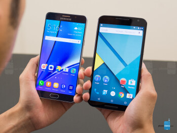 Samsung Galaxy Note5 vs Google Nexus 6
