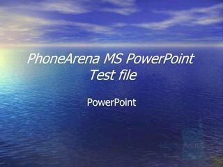 PowerPoint - RIM BlackBerry 8830 Review