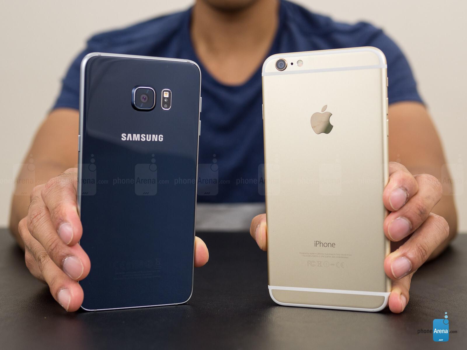 samsung galaxy s6 edge vs apple iphone 6 plus. Black Bedroom Furniture Sets. Home Design Ideas