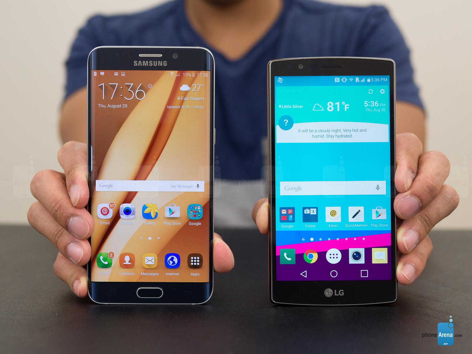 Lg G4 Vs Galaxy S7 Edge: Samsung Galaxy S6 Edge+ Vs LG G4