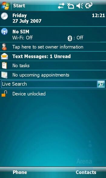 Home screen - Toshiba Portege G900 Review