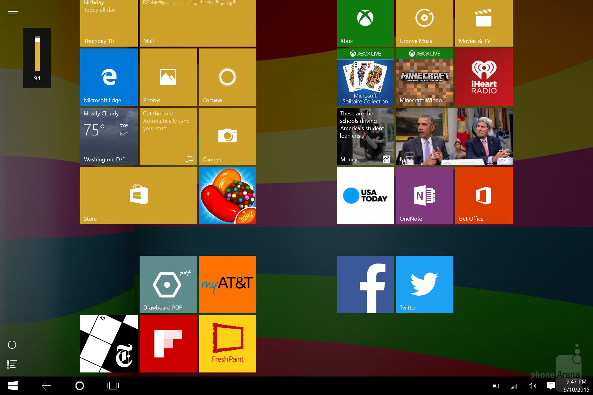 how to make windows more user friendly in tablet mode