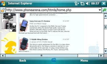 Internet Explorer - Toshiba Portege G900 Review