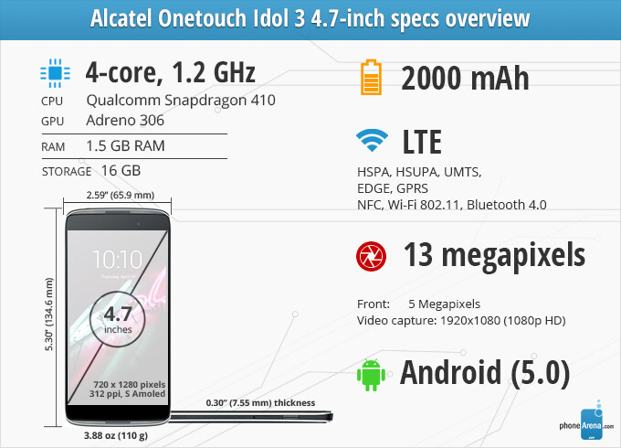 Alcatel Onetouch Idol 3 4 7-inch Review - PhoneArena