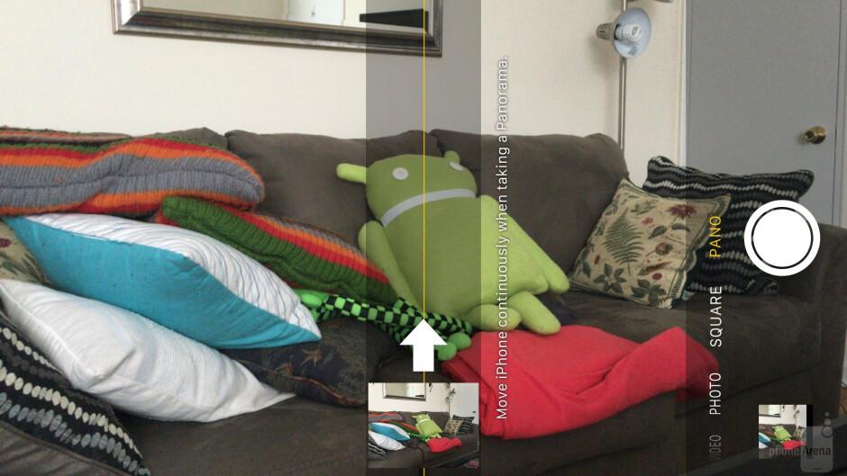 Camera interface of the Apple iPhone 6s Plus - LG G5 vs Apple iPhone 6s Plus