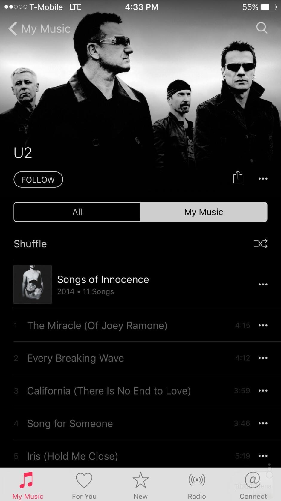 Music players - LG G5 vs Apple iPhone 6s Plus
