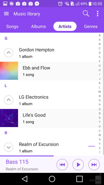 LG V10 - Music players - Samsung Galaxy S7 Edge vs LG V10