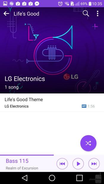Music players - Samsung Galaxy S7 Edge vs LG V10