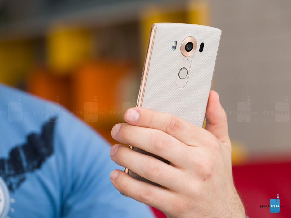 The V10's rear power key now doubles as a fingerprint sensor. - LG V10 Review