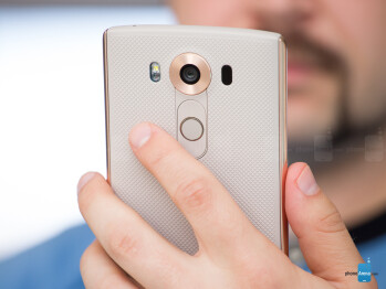 The V10's rear power key now doubles as a fingerprint sensor. - LG V10 Review