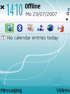 Home screen - Nokia 5700 XpressMusic Review