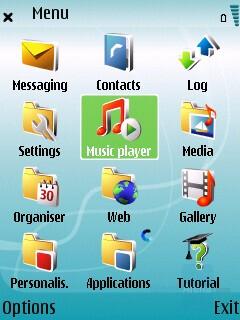Main menu - Nokia 5700 XpressMusic Review