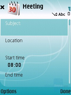 Calendar - Nokia 5700 XpressMusic Review