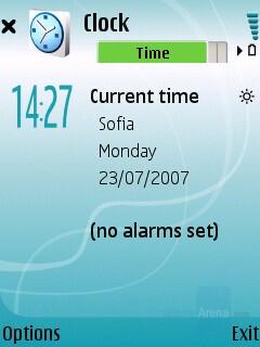 Clock - Nokia 5700 XpressMusic Review