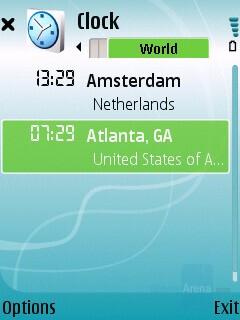 World clock - Nokia 5700 XpressMusic Review