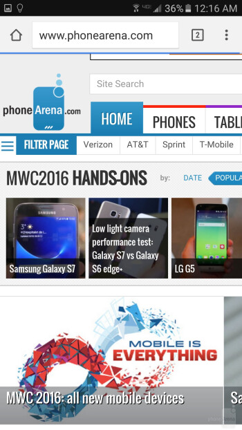 Browsers - Apple iPhone 7 vs Samsung Galaxy S7