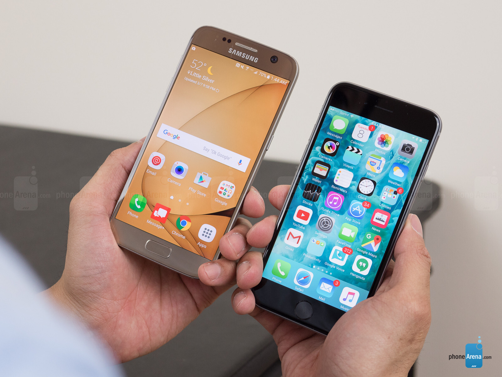 iphone 8 vs galaxy s7 edge