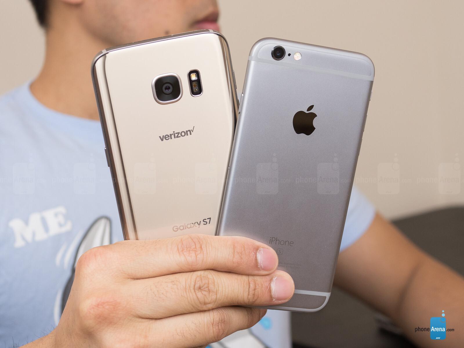samsung galaxy s7 apple iphone 6