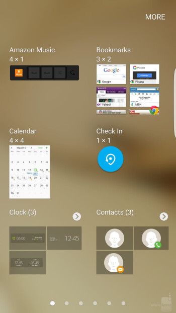 TouchWiz is running on top of Android 6.0.1 Marshmallow on the S7 edge - Samsung Galaxy S7 edge vs Samsung Galaxy S6 edge+