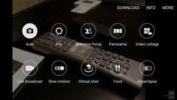 Camera UI of the Samsung Galaxy S7 edge - Samsung Galaxy S8+ vs S7 Edge