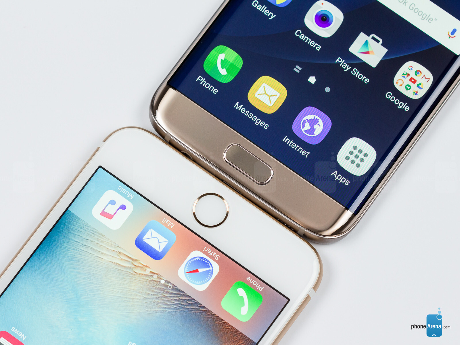 Samsung Galaxy S7 edge vs Apple iPhone 6s Plus - PhoneArena