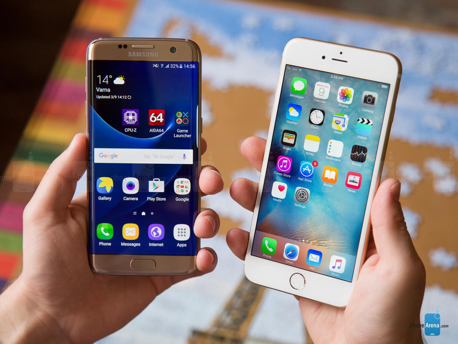 Samsung S Edge Vs Iphone S Plus
