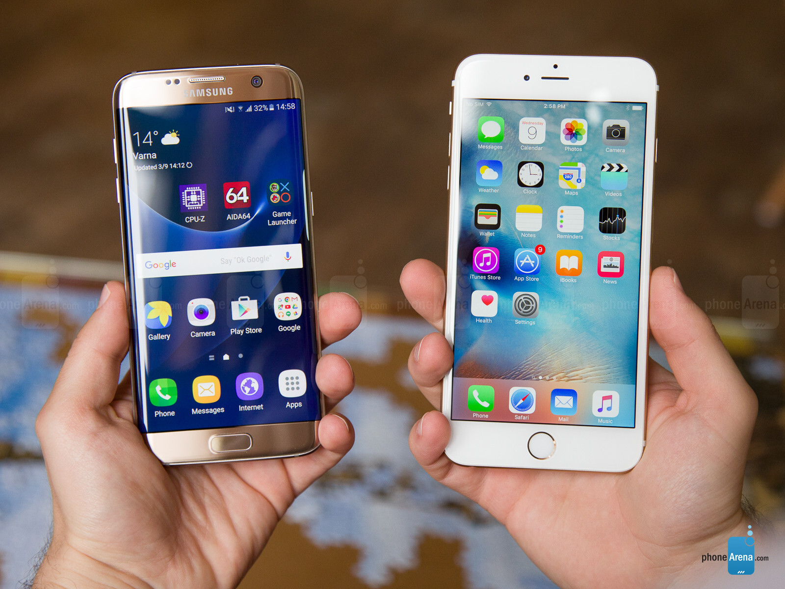 samsung galaxy s7 edge vs apple iphone 6s plus. Black Bedroom Furniture Sets. Home Design Ideas