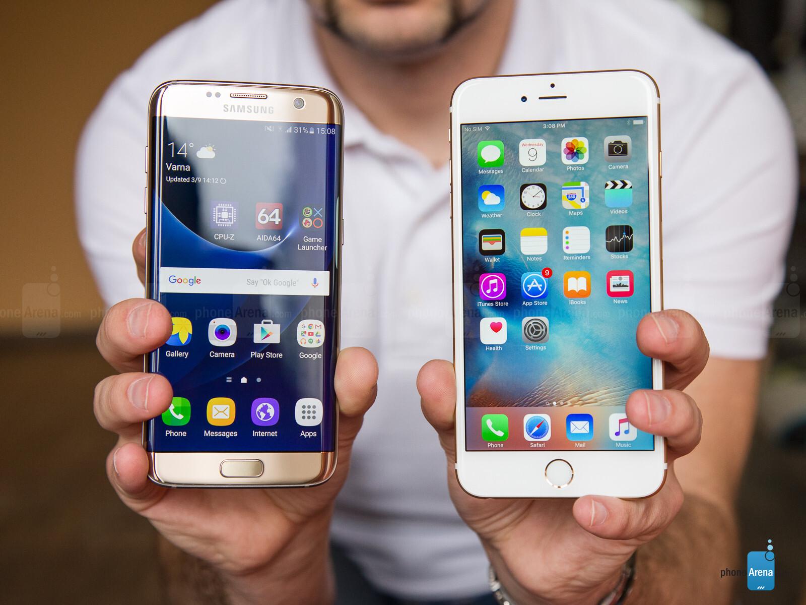 samsung galaxy s7 edge vs apple iphone 6s plus. Black Bedroom Furniture Sets. Home Design Ideas