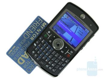 Motorola Q9h next to Motorola ROKR Z8 - Motorola Q9h Review