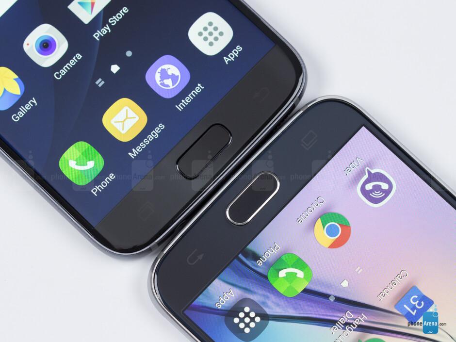 Galaxy S7 - left; Galaxy S6 right - Samsung Galaxy S7 vs Samsung Galaxy S6