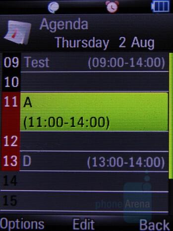 Calendar - Motorola Z8 Preview