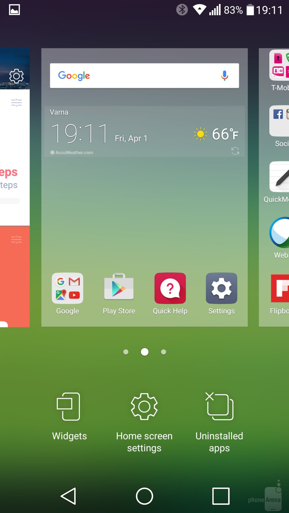 Interface of the LG G5 - LG G5 vs Apple iPhone 6s Plus