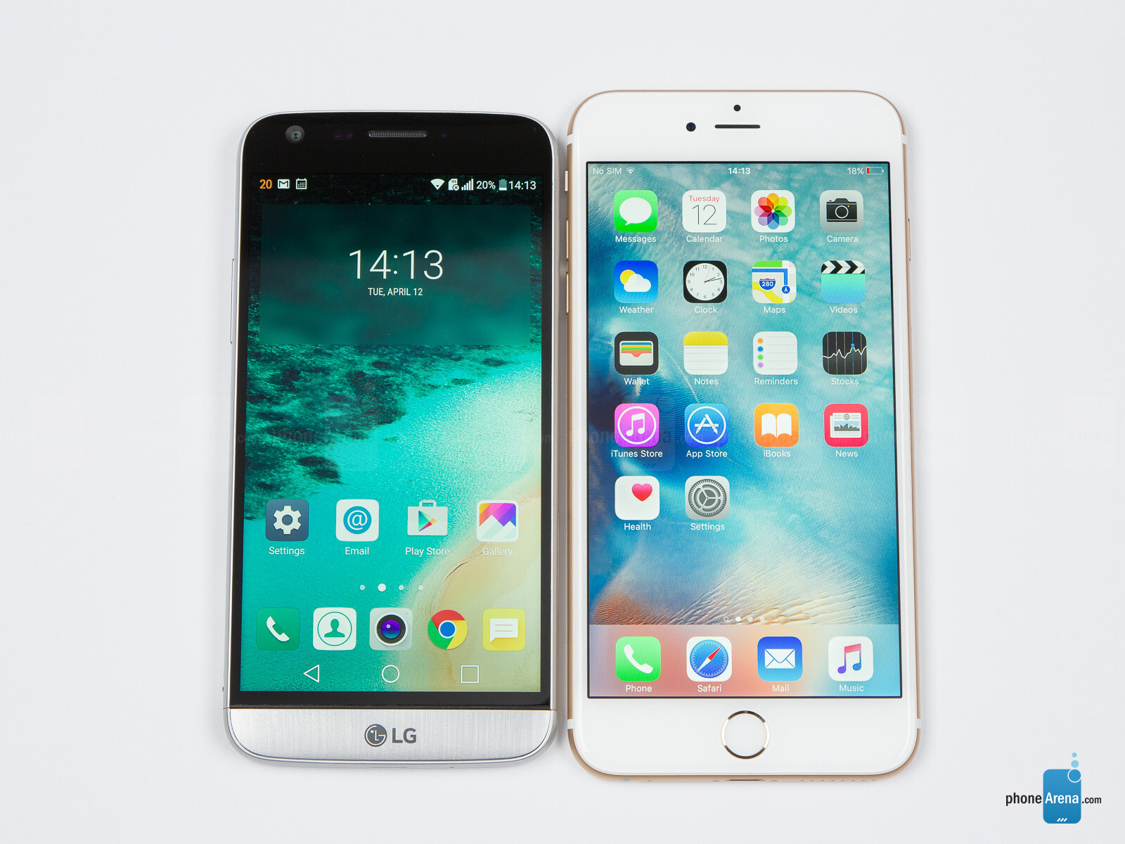 LG G5 vs Apple iPhone 6s Plus - PhoneArena