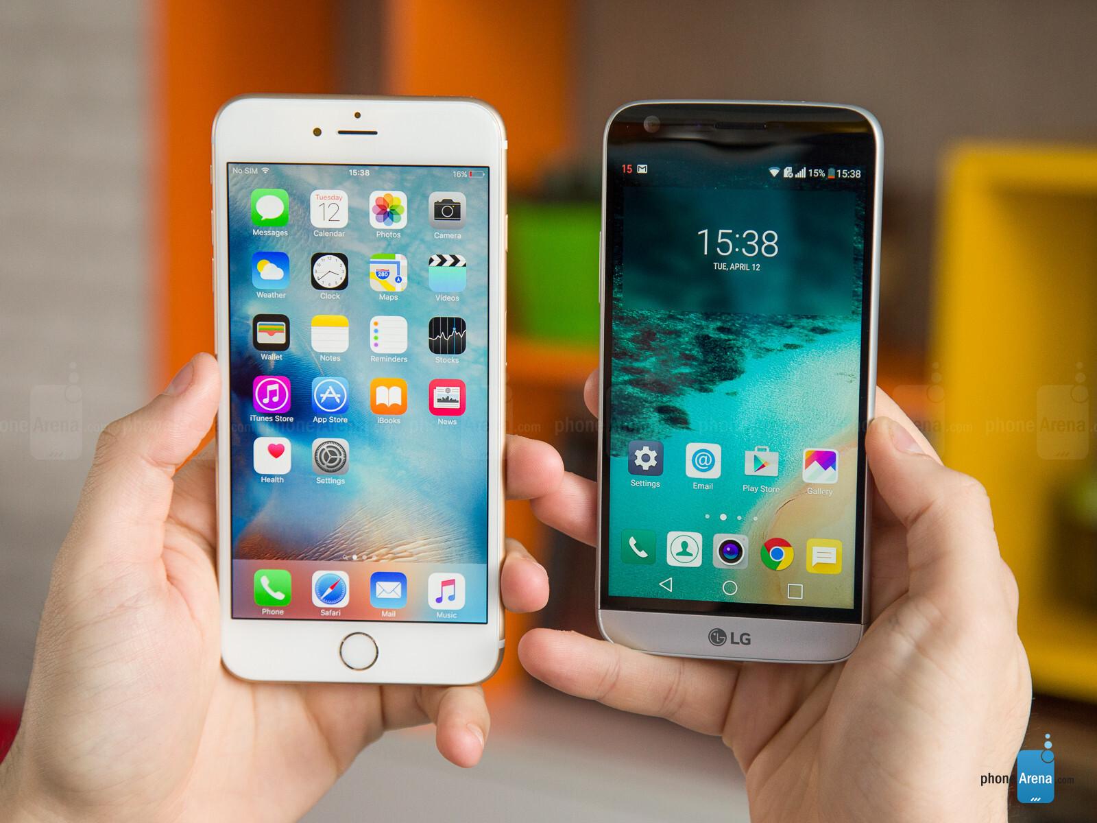 lg g5 vs iphone 7 plus