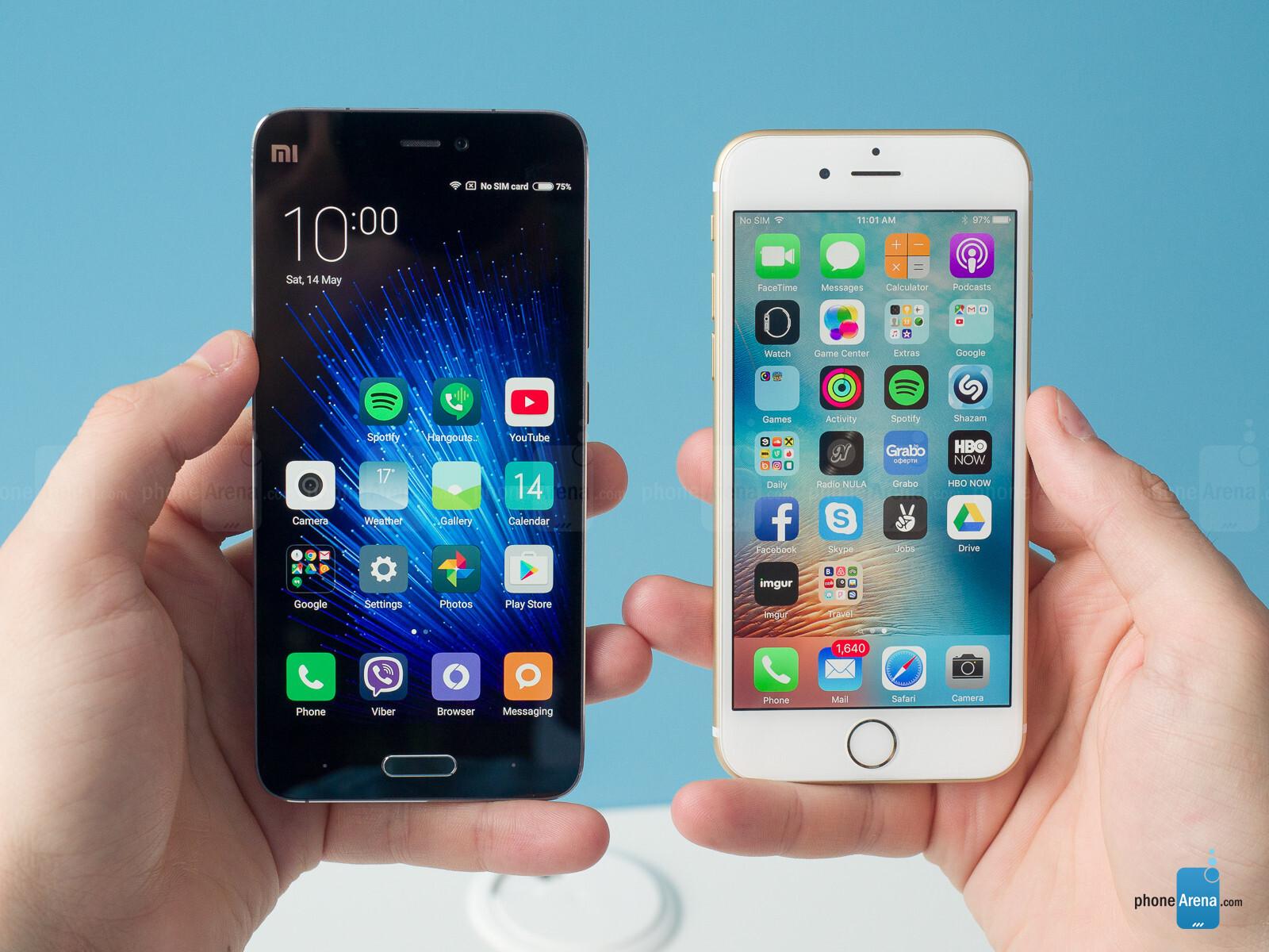 xiaomi mi5 s plus vs iphone 6 plus