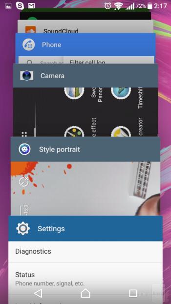 UI of the Sony Xperia X - Sony Xperia X vs Samsung Galaxy S7