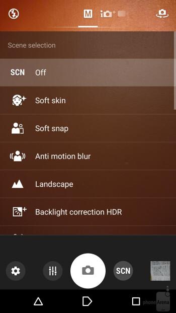 Camera UI - Sony Xperia XA Review