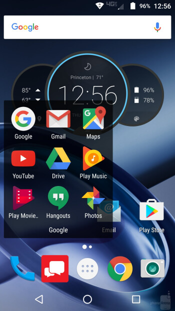 Interface of Moto Z Force Droid - Moto Z Force Droid vs Apple iPhone 6s Plus