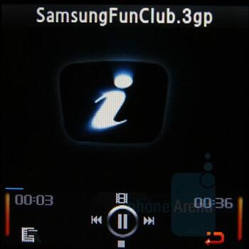 Video Player - Samsung SGH-E590 Review
